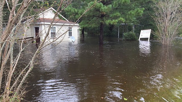 Flooding in the Lowcountry after Hurricane Matthew. (FOX Carolina()