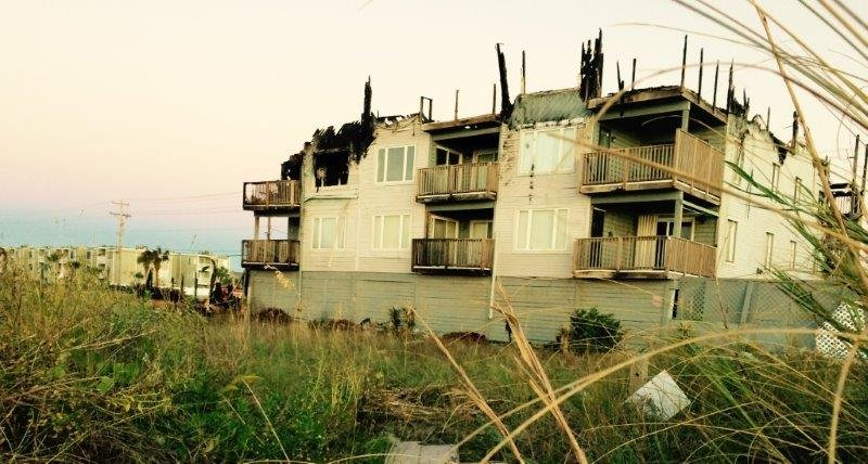 Cherry Grove fire damage (FOX Carolina)
