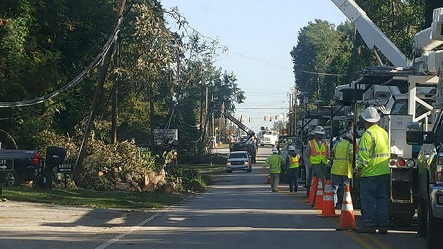 The clean up process begins in Florence. (Source: Sheriff Chuck Wright)