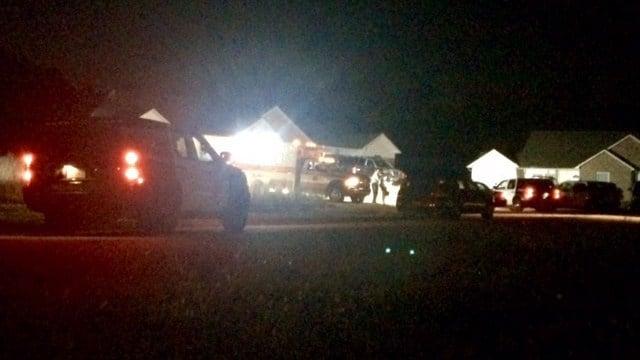 Scene of reported shooting in Spartanburg Co. (October 11, 2016 FOX Carolina)