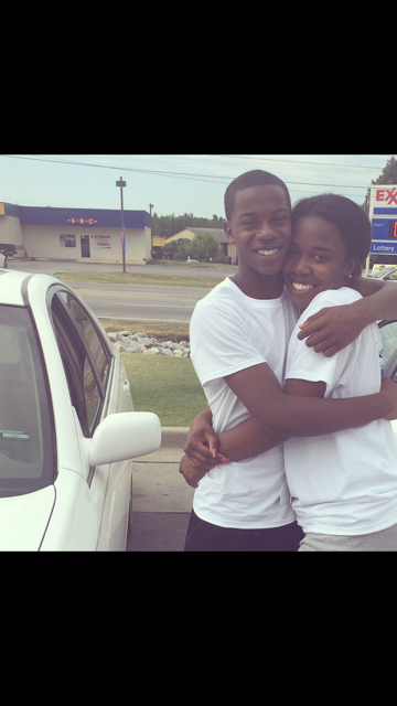 Deondre shares embrace with his sister. (Courtesy of family)