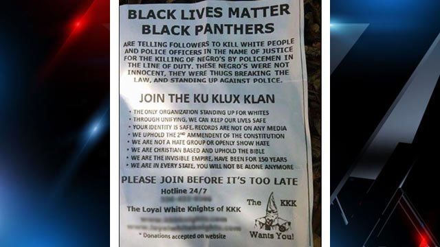 KKK recruitment letters were found on Clemson University campus and in Oconee County. (Source: iWitness)
