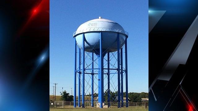 Laurens Co. water tower (FOX Carolina)