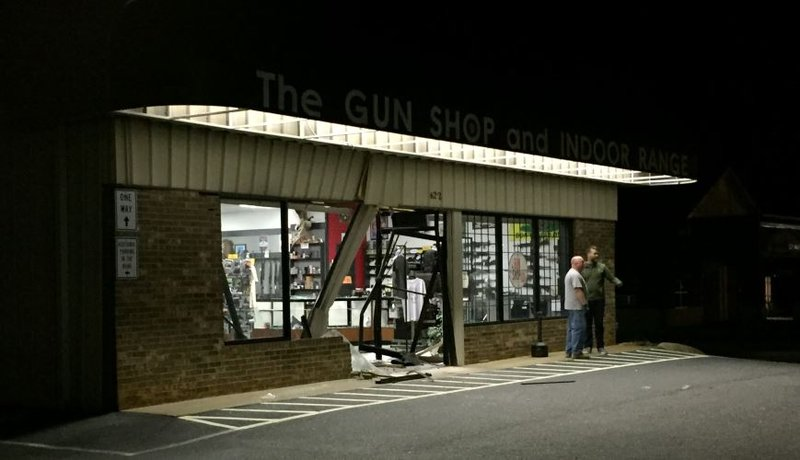 Sunrise Car Crashes Into Shop