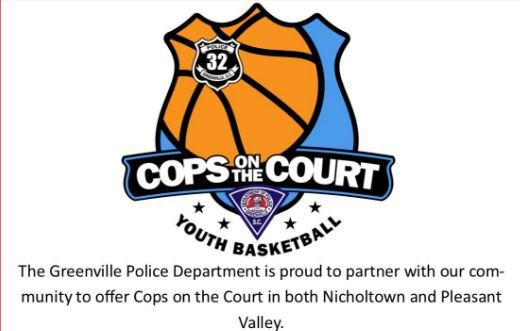 Cops on the Court logo (Greenville PD)