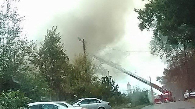 Fire at Chiquola Mill. (Credit: Eric F.)