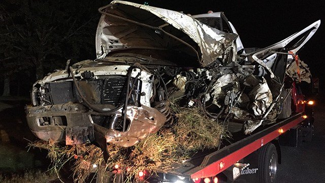 Two car collision in Anderson County. (October 16, 2016 FOX Carolina)