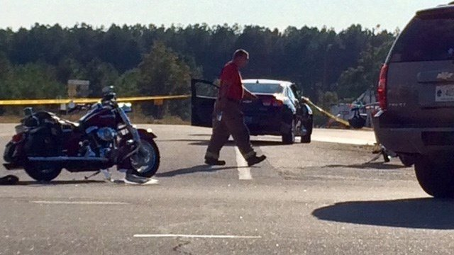 Troopers respond to fatal motorcycle collision near Interstate 85 in Anderson Co. (October 16, 2016 FOX Carolina)