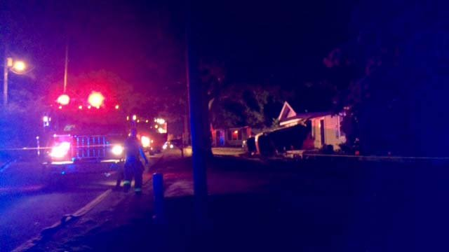 Troopers said a no one sustained life threatening injuries after a vehicle crashed into a Greer home.(FOX Carolina/10/16/16)