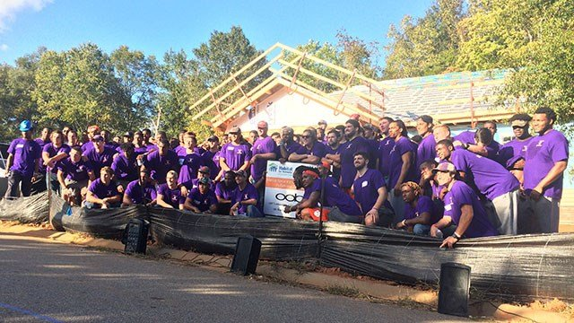 Clemson Habitat for Humanity build. (Oct. 18, 2016/FOX Carolina)