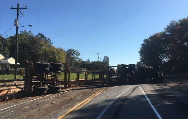 Overturned truck (Courtesy: Robert Frain)