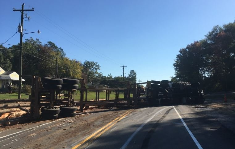 Overturned truck (Courtesy: Robert Frain)