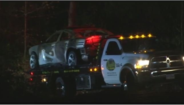 Firefighter said the chase ended in a crash. (Nov. 4, 2016/FOX Carolina)