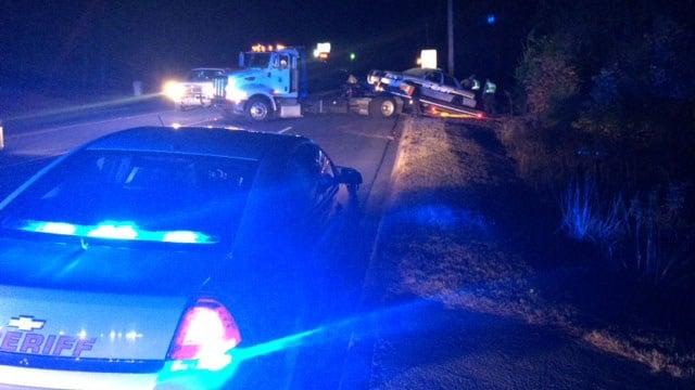 A Pickens Co. deputy was involved in a crash Friday night. (FOX Carolina/ 11/4/16)