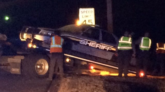 A Pickens Co. deputy was involved in a crash Friday night. (FOX Carolina/ 11/4/16)