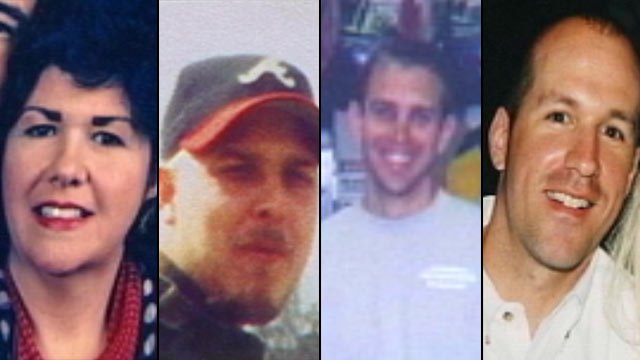 The victims of the 2003 Superbike Motorsports killings, from left to right: Beverly Guy, Chris Sherbert, Brian Lucas and Scott Ponder. (File/FOX Carolina)