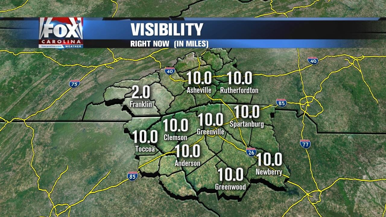 Visibility in Franklin, NC down to 2 miles. (FOX Carolina/ 11/5/16)