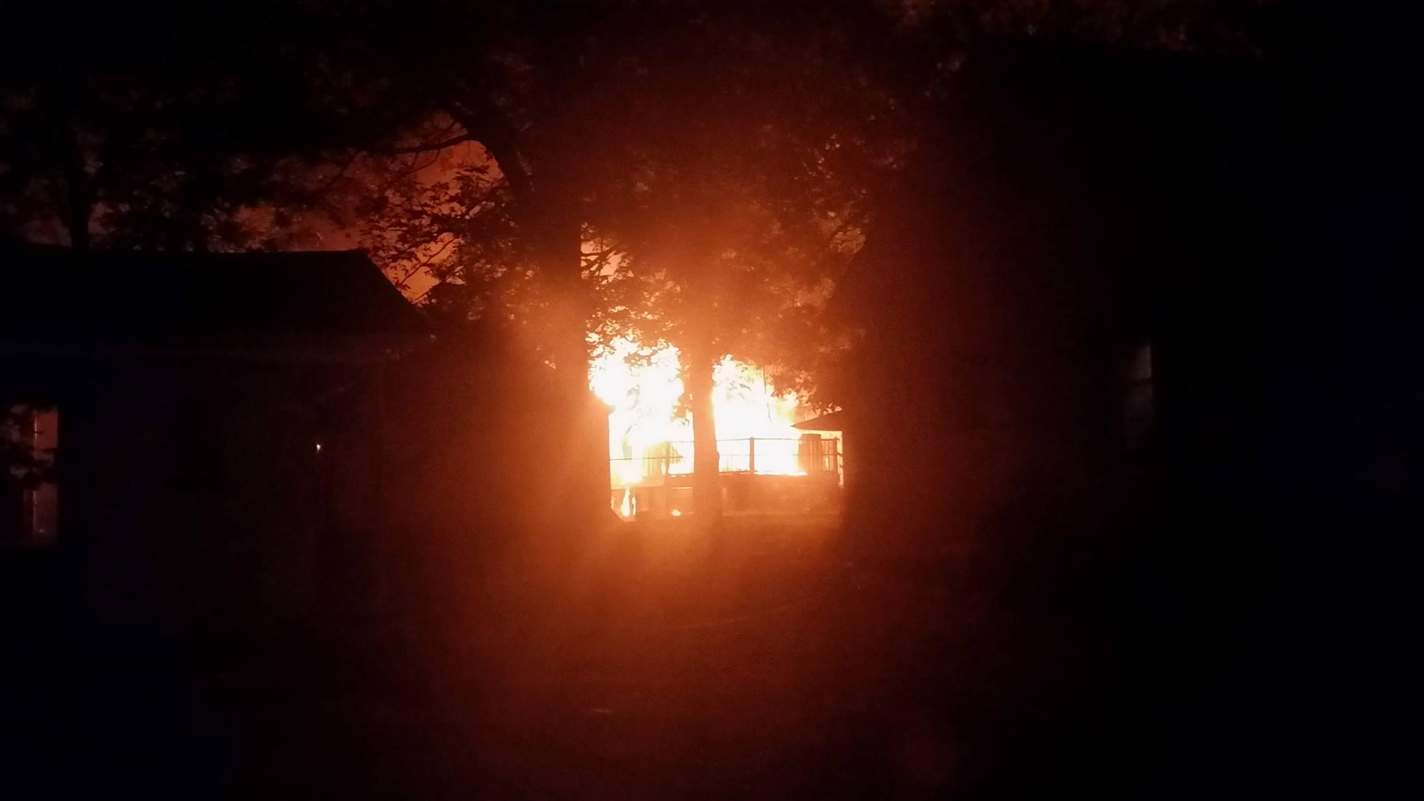 Photo of the blaze (Courtesy: Jaye Sanders)
