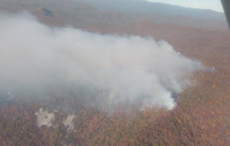 Pinnacle Mountain fire (Courtesy: SC Forestry Commission)