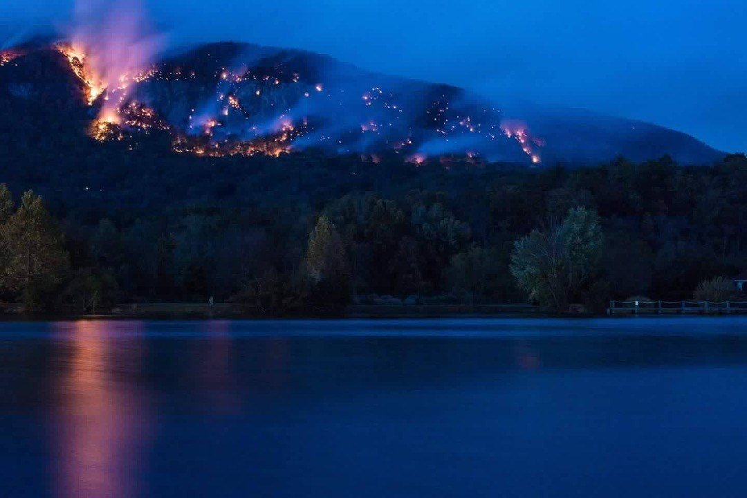 Fire near Lake Lure (Courtesy: Michele Schwartz)