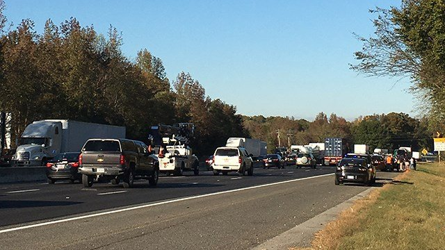 Pileup on I-85 north (Nov. 10, 2016/FOX Carolina)