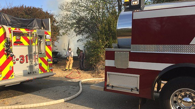 Troopers reported a structure fire in Greenville County Friday morning. (FOX Carolina/ 11/11/16)