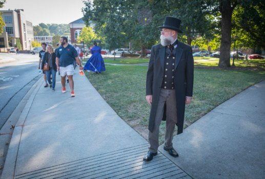 Re-enactor portrays Thomas Greene Clemson on campus (Courtesy: Clemson University)
