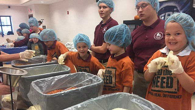 'Feed the Need' at Calvary Christian School. (Source: Calvary Christian)