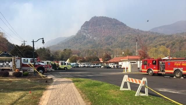 Party Rock Fire burns more than 3,700 acres. (FOX Carolina/ Nov. 15, 2016)