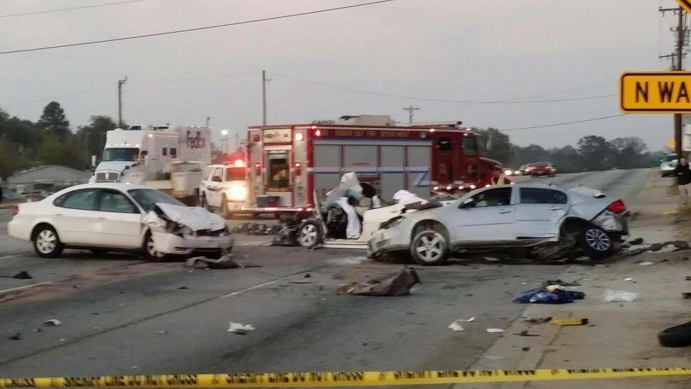 Fatal collision on White Horse Road. (Source: Kathy Couch)
