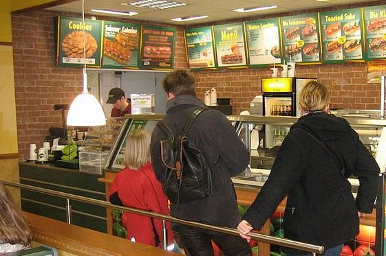 Photo from inside a Subway restaurant in Germany (Wikimedia Commons)