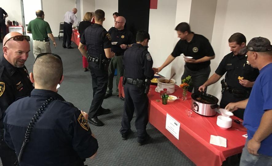 Deputies at the MADD chili cook-off (Nov. 17, 2016/ FOX Carolina)
