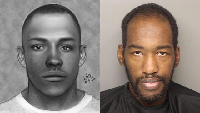 Person of interest sketch (left), Markius Reshad Yeargin (right) (Source: GCDC)