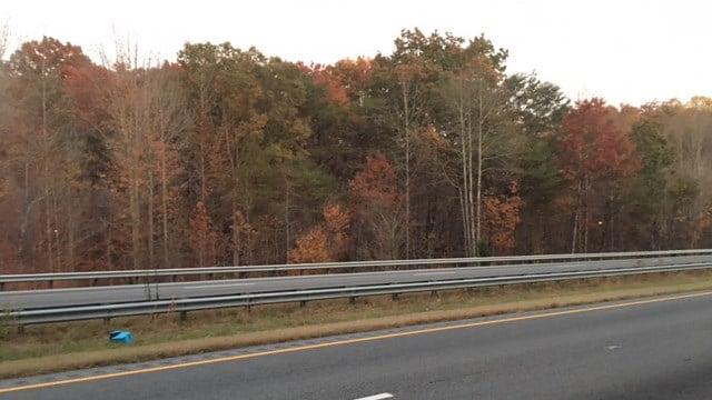 Multiple fire crews battled a brush fire in Columbus, NC Friday evening. (FOX Carolina/11/18/16)