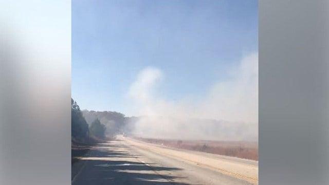 Fire reported near Woodmont High School. (Source: Steven M.)