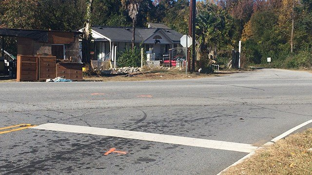Scene of fatal collision in Anderson Co. (November 16, 2016 FOX Carolina)