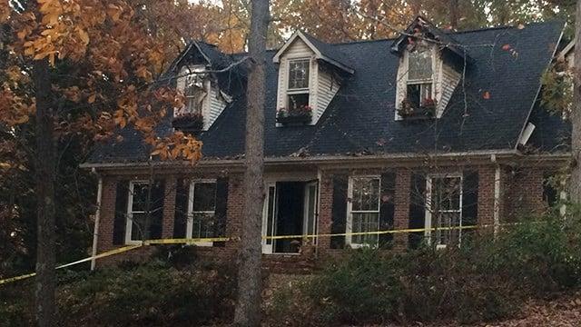 Crews on scene of house fire in Anderson Co. (November 19, 2016 FOX Carolina)