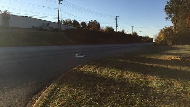 Scene of fatal collision on Augusta Road. (November 20, 2016 FOX Carolina)