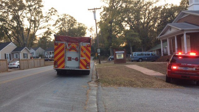 Crews on scene of house fire in Greenville. (November 20, 2016 FOX Carolina)