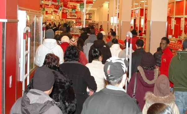 Shoppers enter a Target store on Black Friday in 2009 (Wikimedia Commons)