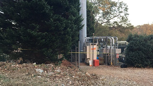 Scene where human remains found in Greenville Co. (November 21, 2016 FOX Carolina)