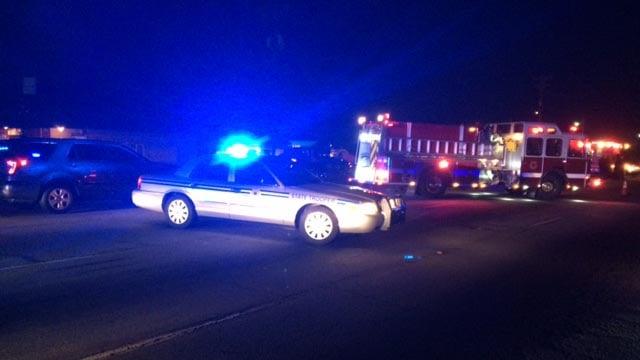 Scene of fatal accident involving a pedestrian in Greenville Co. (November 22, 2016 FOX Carolina)
