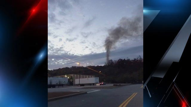 Smoke could be seen coming from the fire on Paris Mountain. (Source: iWitness)