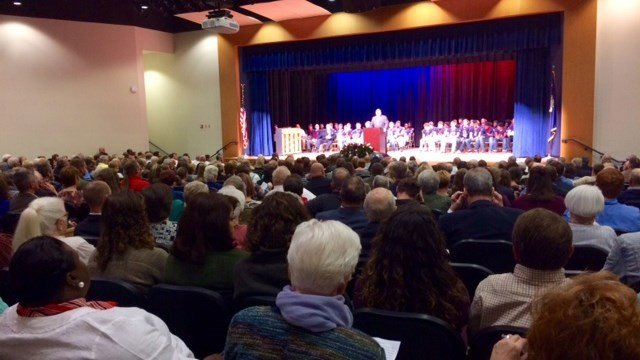 Gambrell's funeral. (FOX Carolina/ 11/23/16)