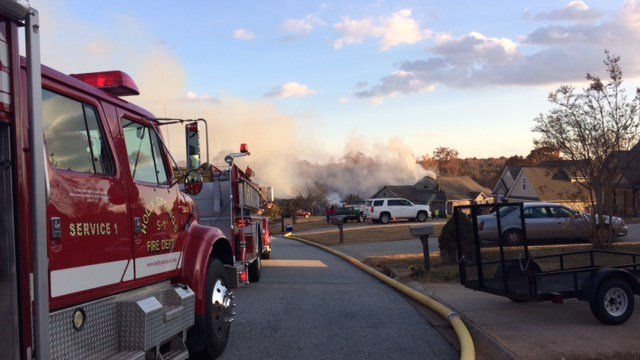Crews battled two residential fires in Campobello near Links O'Tryon golf course on Thursday. (11/24/16)