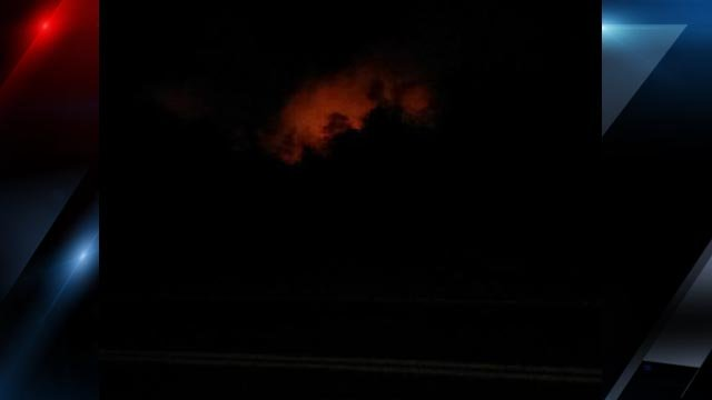 Flames in the distance as seen from Greentree Road (Courtesy: Lacie Smith/ Salem Westhead)