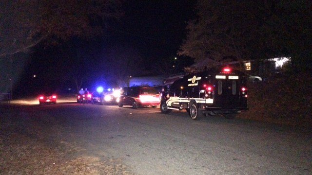 Officers on scene following stabbing that send one victim to hospital. (FOX Carolina/ 11/26/16)