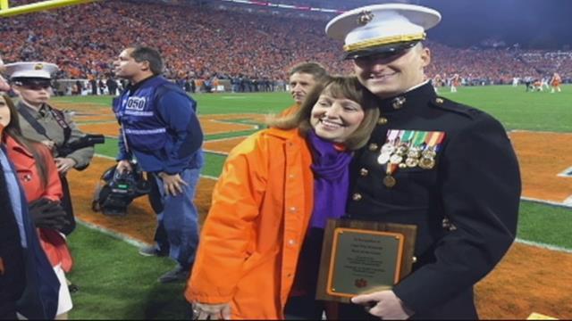 Marine captain honored for heroic acts. (November 26, 2016 FOX Carolina)