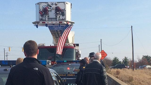 Funeral procession traveling through Upstate in honor of fallen US Marshal. (November 27, 2016 FOX Carolina)