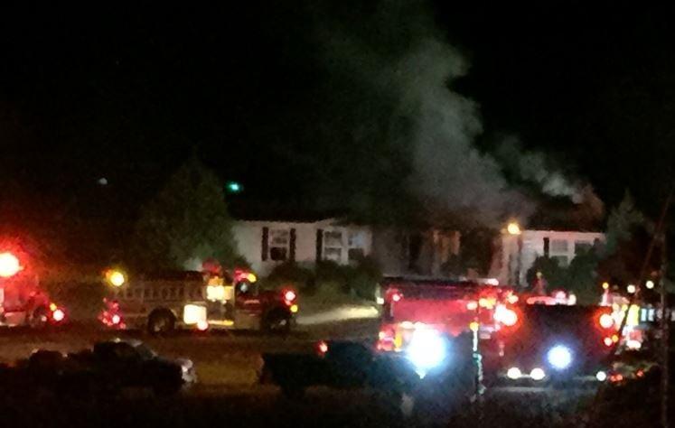 House fire in Campobello (FOX Carolina/ Nov. 28, 2016)